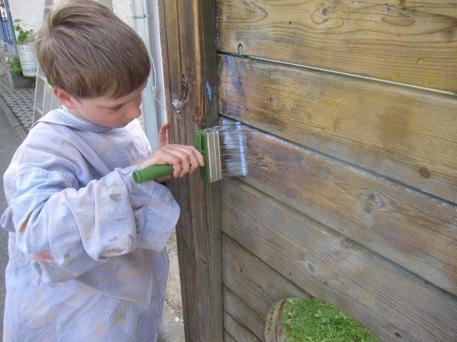 Klettergerüst Torwand : Torwand renovierung durch die werk ag anne frank schule homberg efze