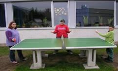 unsere Tischtennisplatte