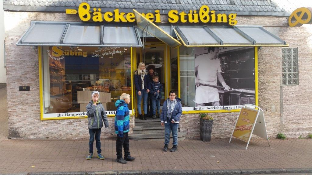 Die MS1 besucht die Bäckerei Stübing